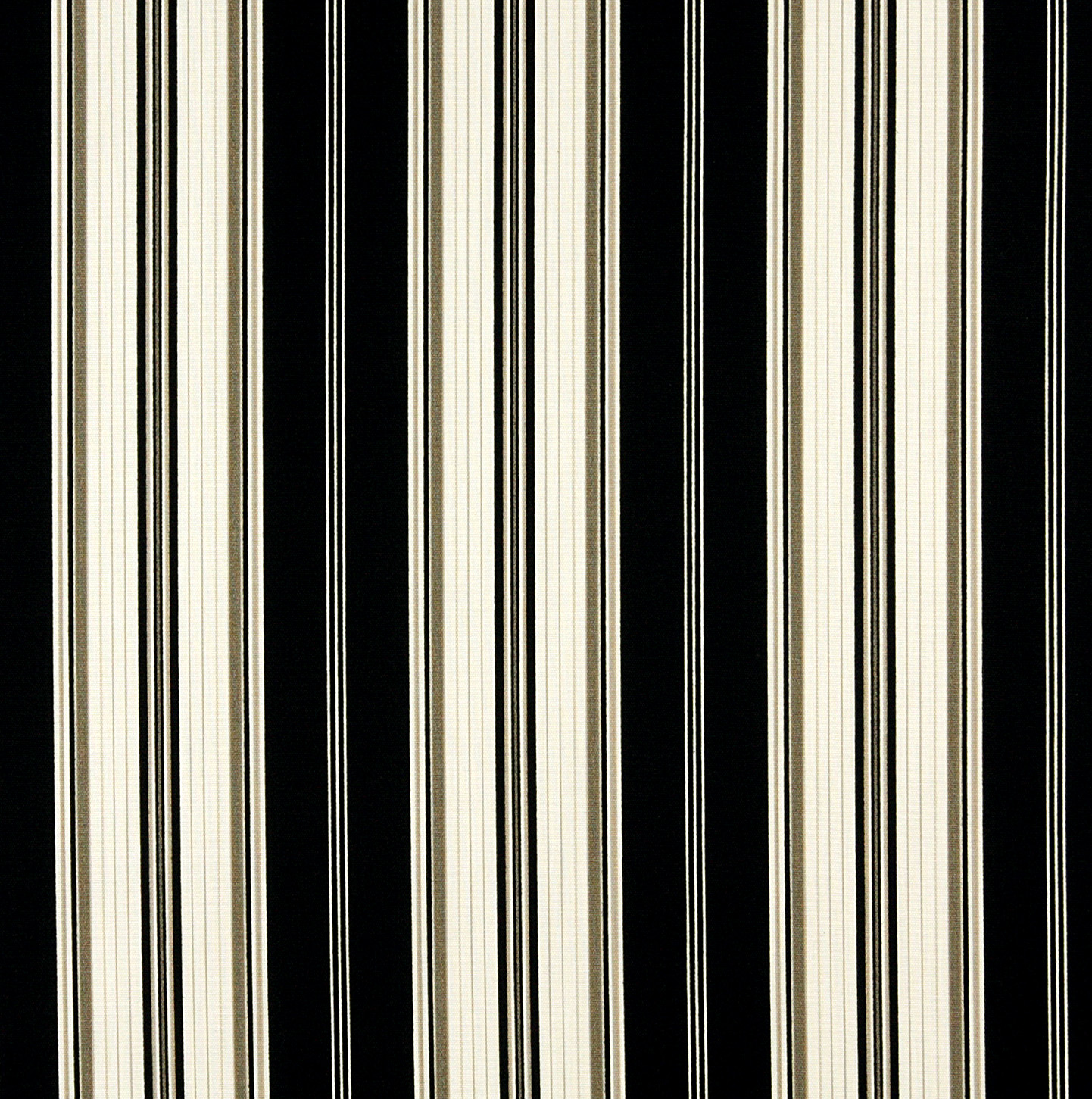 Onyx Stripe Black And White Stripes Marine Upholstery Fabric