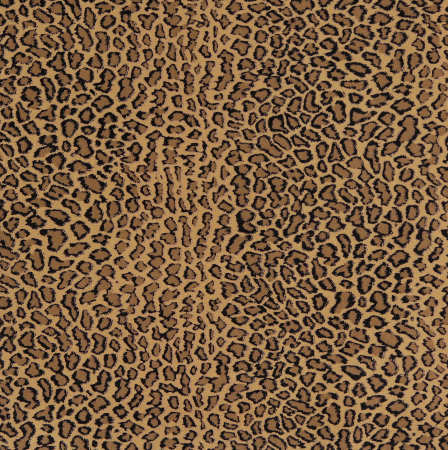 Beige Brown And Black Jaguar Faux Animal Print Microfiber