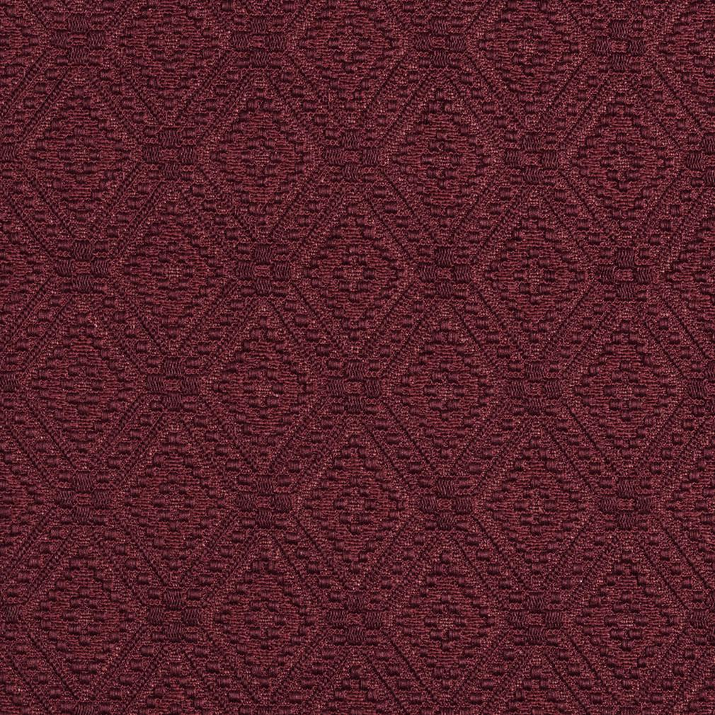 Wine Red Burgundy Prism Decorative Small Diamond Brocade
