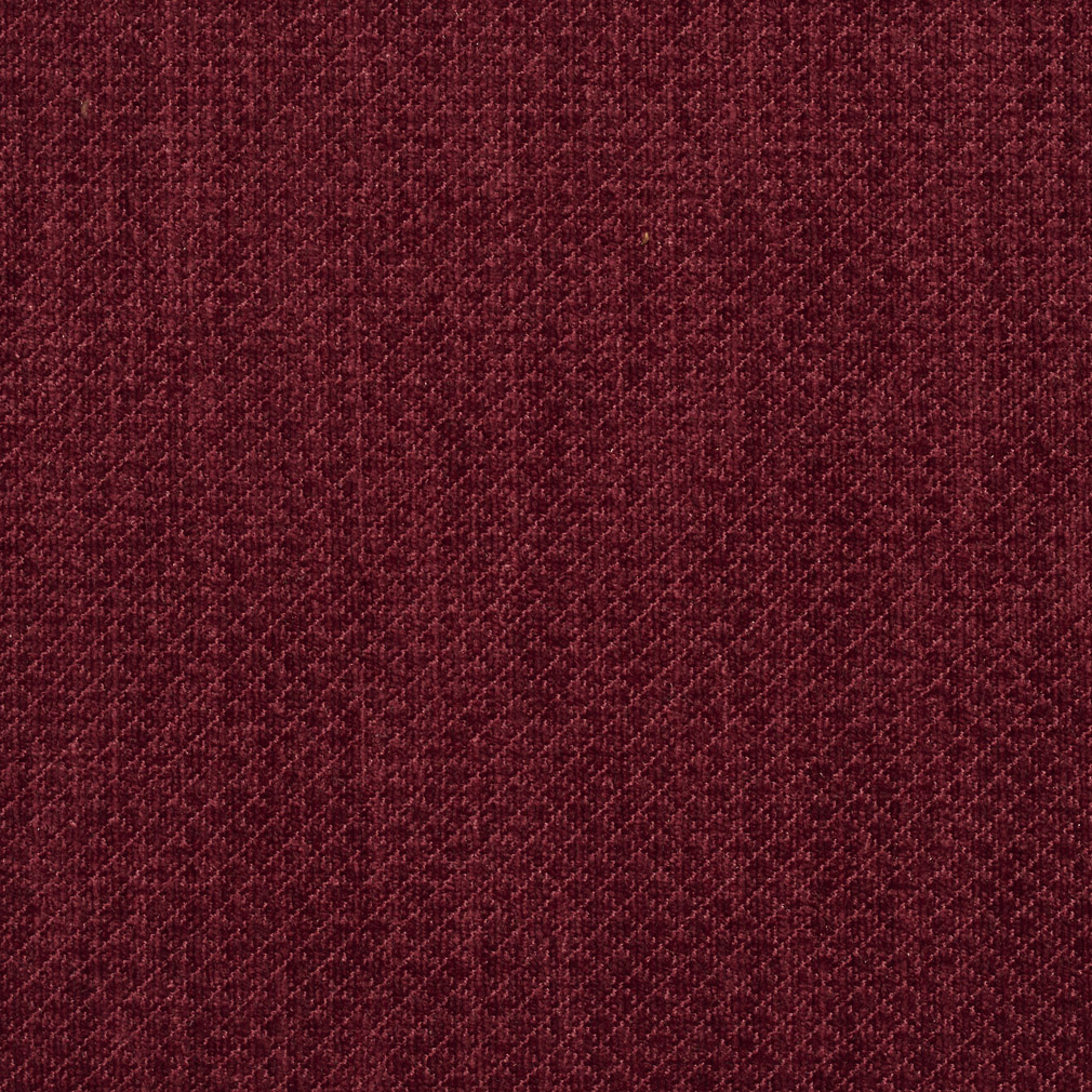 Burgundy Red Solid Soft Chenille Upholstery Fabric