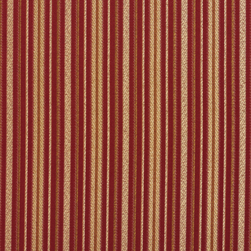Brandy Burgundy And Coral Classic Vintage Small Stripe