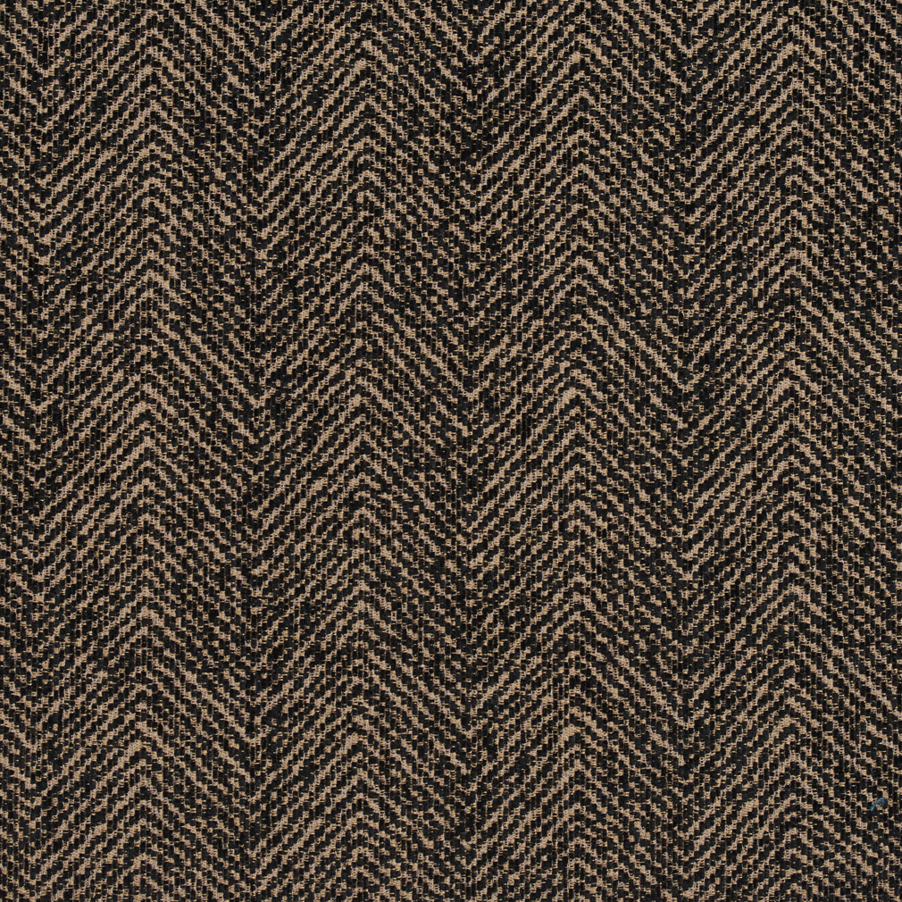 Walnut Beige And Black Plain Chevron Tweed Upholstery Fabric