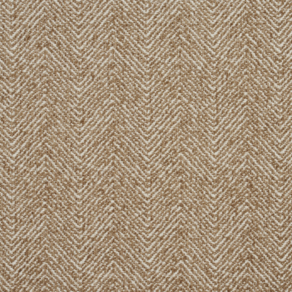 Sand Beige Tan Plain Chevron Tweed Upholstery Fabric