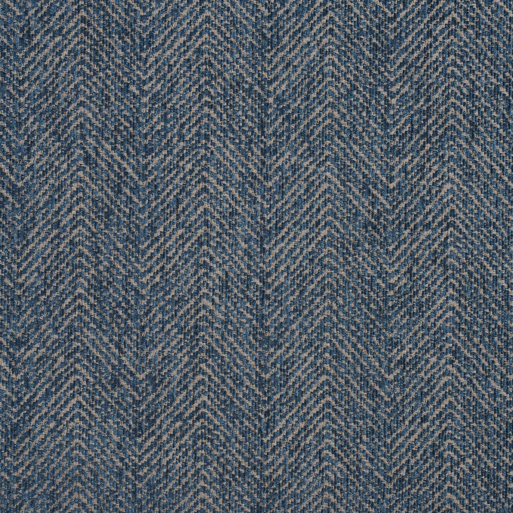 Oasis Aqua Blue Plain Chevron Tweed Upholstery Fabric