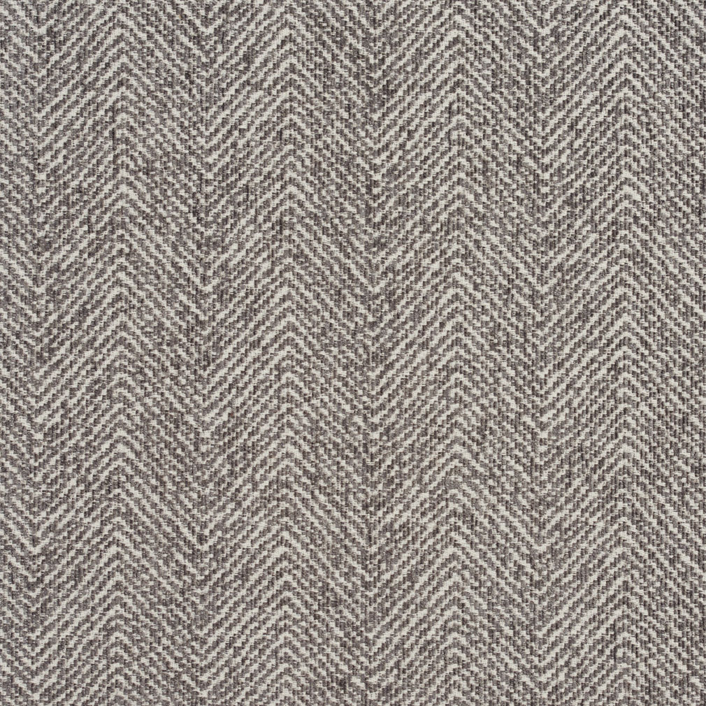 Gray Silver Plain Chevron Tweed Upholstery Fabric