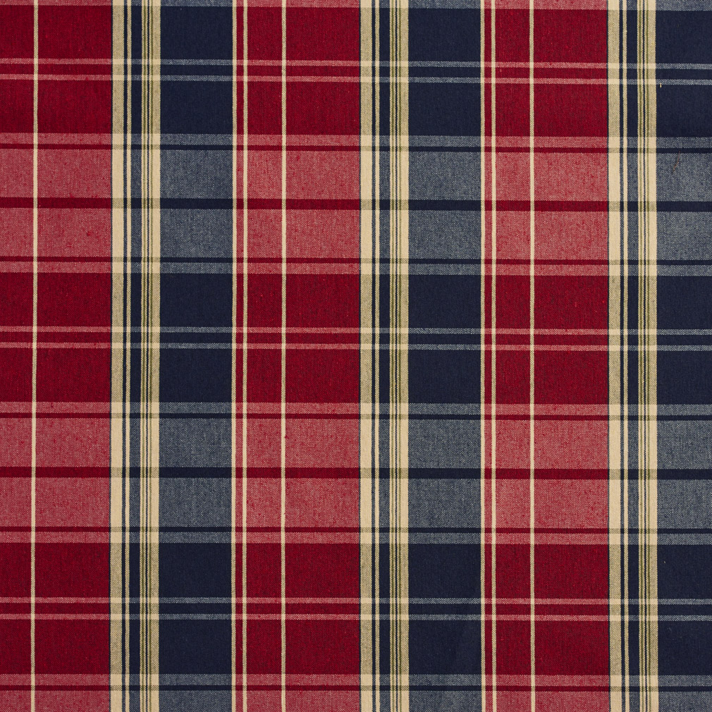 Port Burgundy And Dark Blue Plaid Country Damask