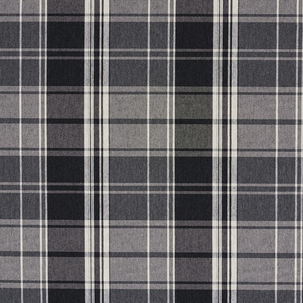 onyx black and gray plaid damask upholstery fabric. Black Bedroom Furniture Sets. Home Design Ideas