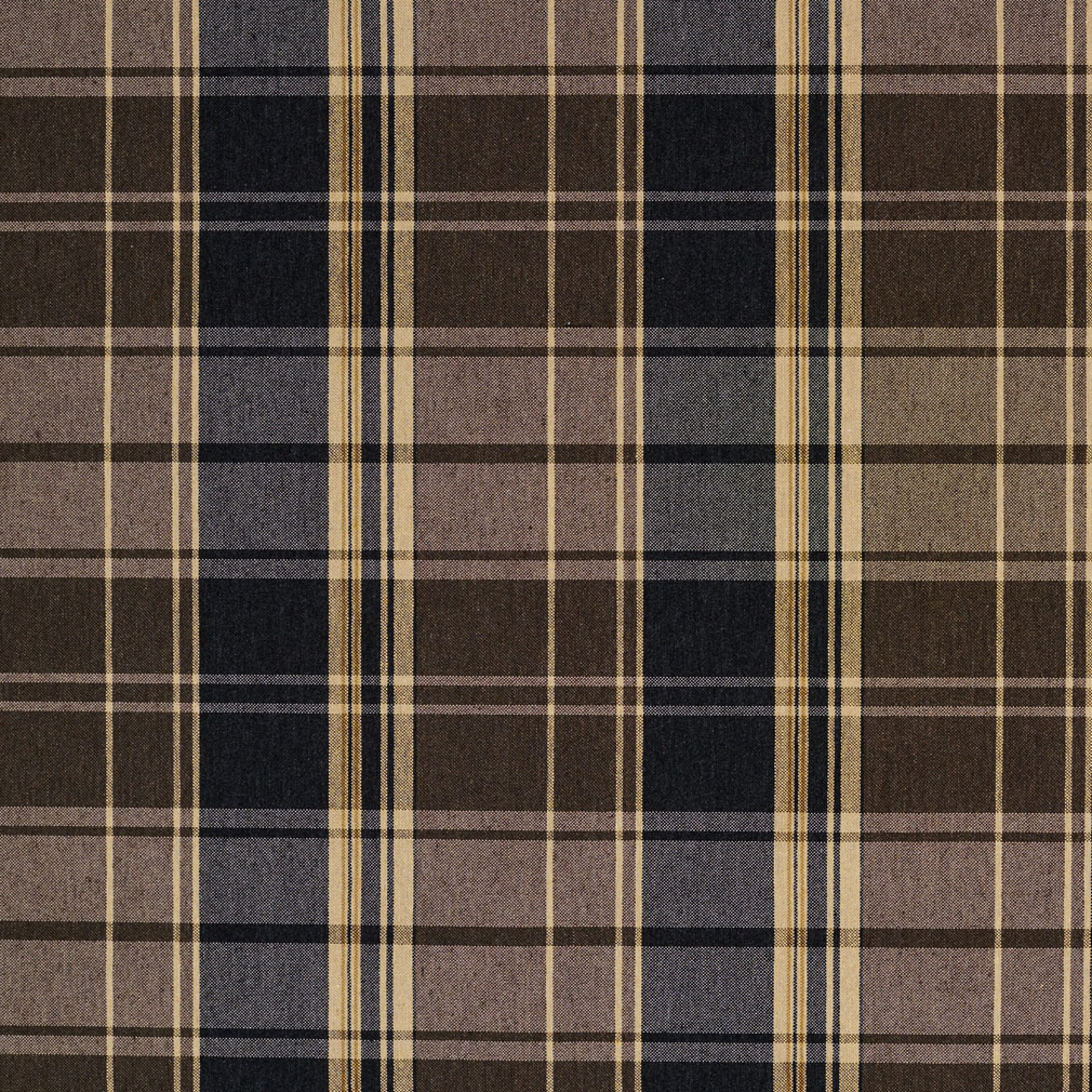 Black Gray Beige And Brown Plaid Country Damask Upholstery
