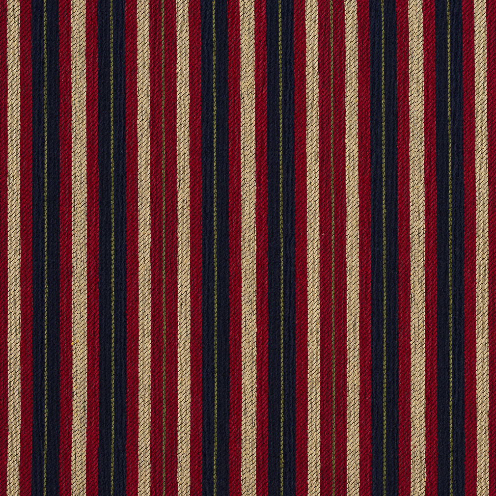 Port Beige And Burgundy Stripe Country Damask Upholstery