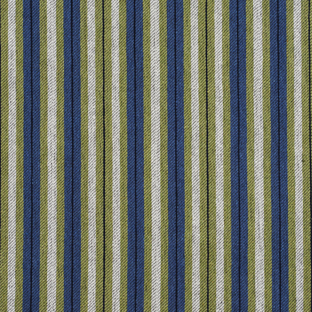 Dark Blue And Light Green Gray Stripe Country Damask