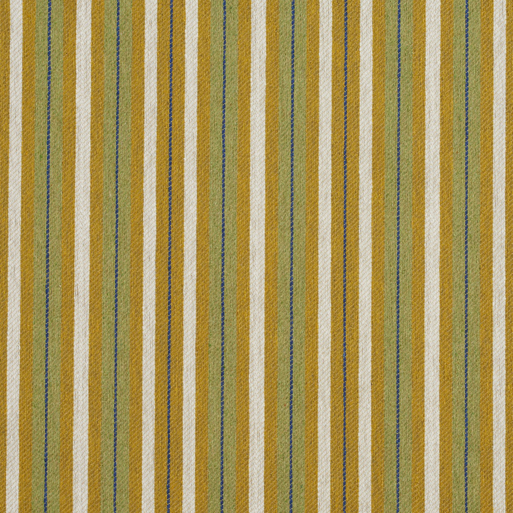 Gold and light green stripe country damask upholstery fabric for Sheer galaxy fabric