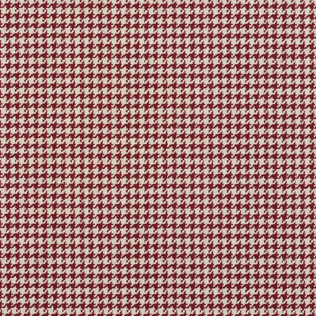 Spice Burgundy And White Houndstooth Tapestry Upholstery