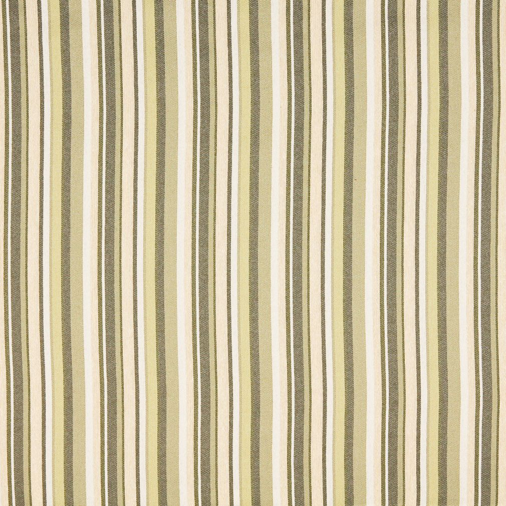 Sage Dark Green And Light Green Small Stripe Tweed