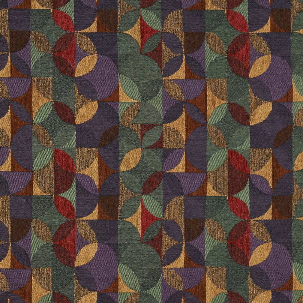 Red Burgundy And Dark Green Purple Circle Stripe Abstract
