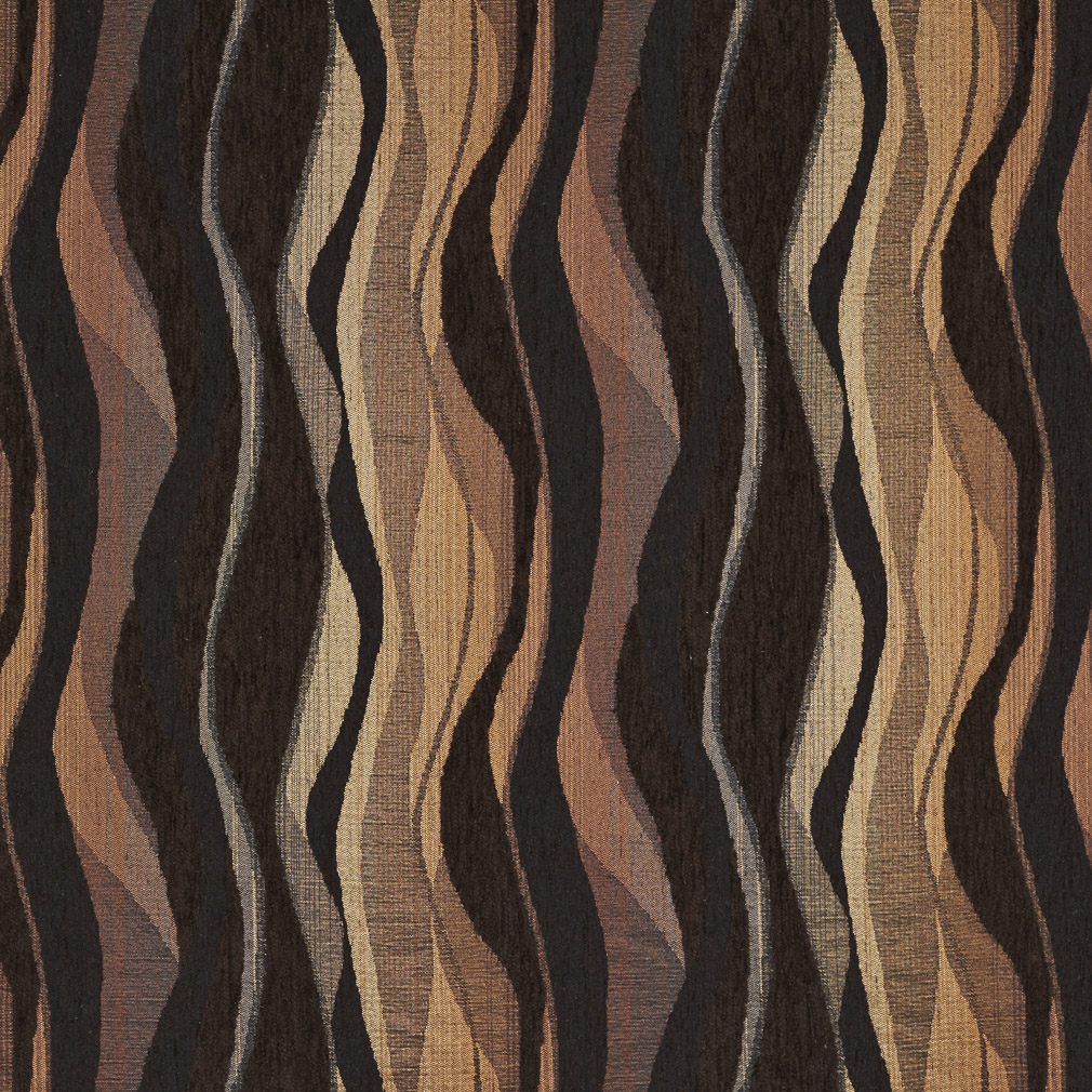 Ember Black And Brown Abstract Contemporary Chenille