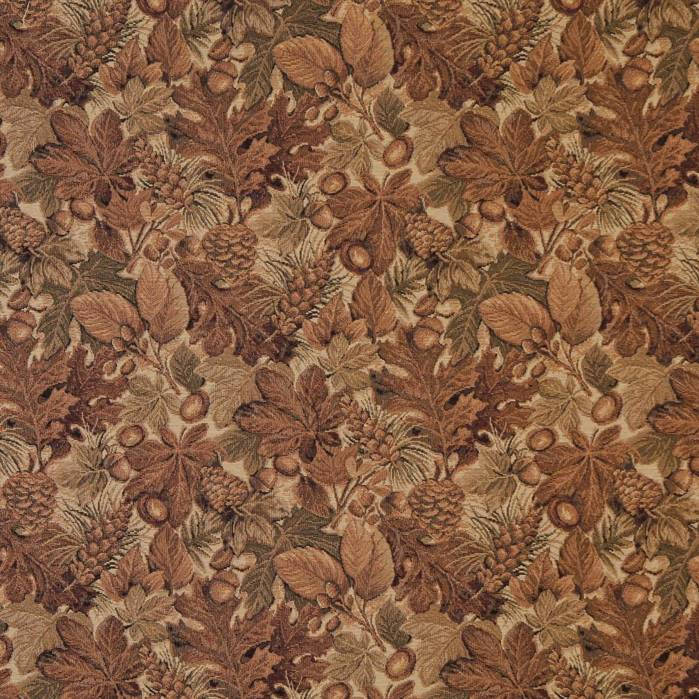 Beige Tan And Brown Fall Forest Foliage Tapestry