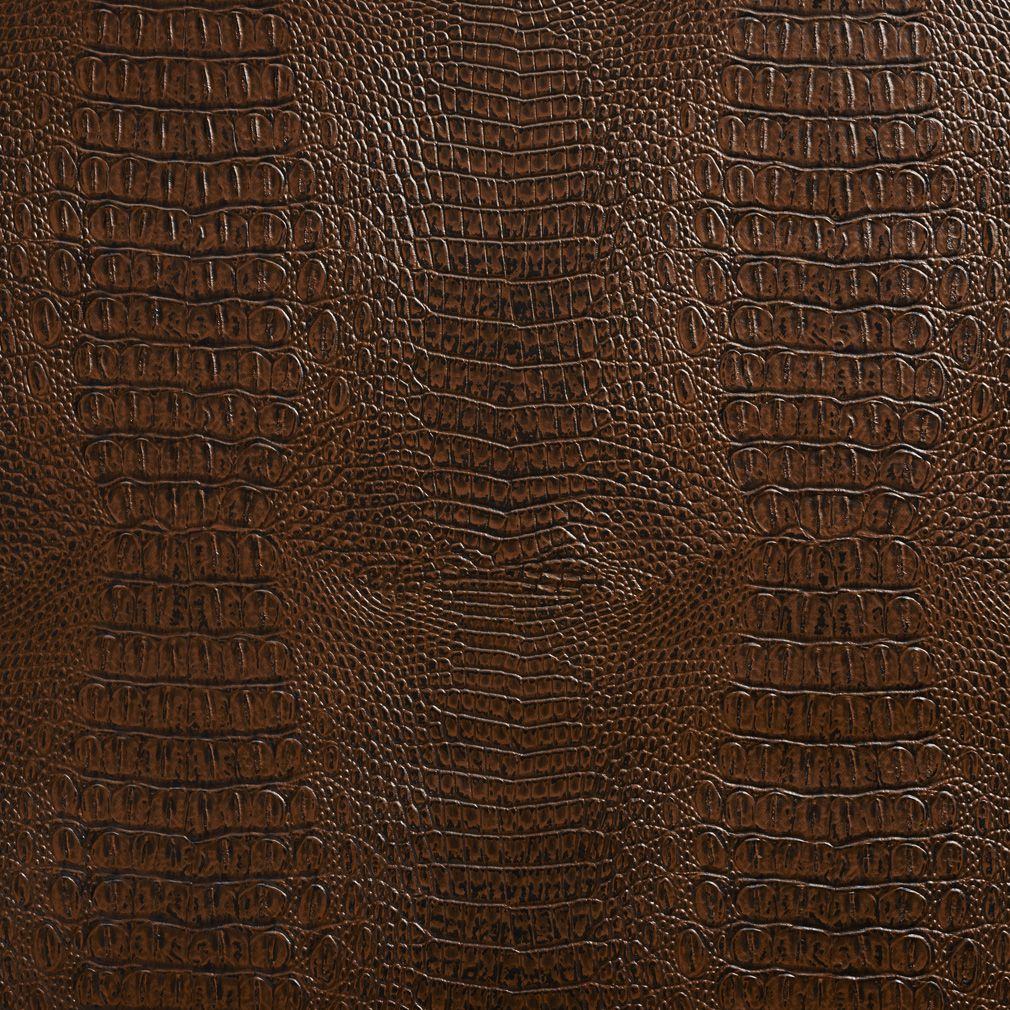 Sable Brown Reptile Skin Texture Vinyl Upholstery Fabric