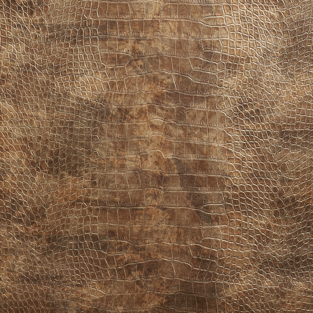Nugget Brown And Gold Reptile Skin Texture Vinyl