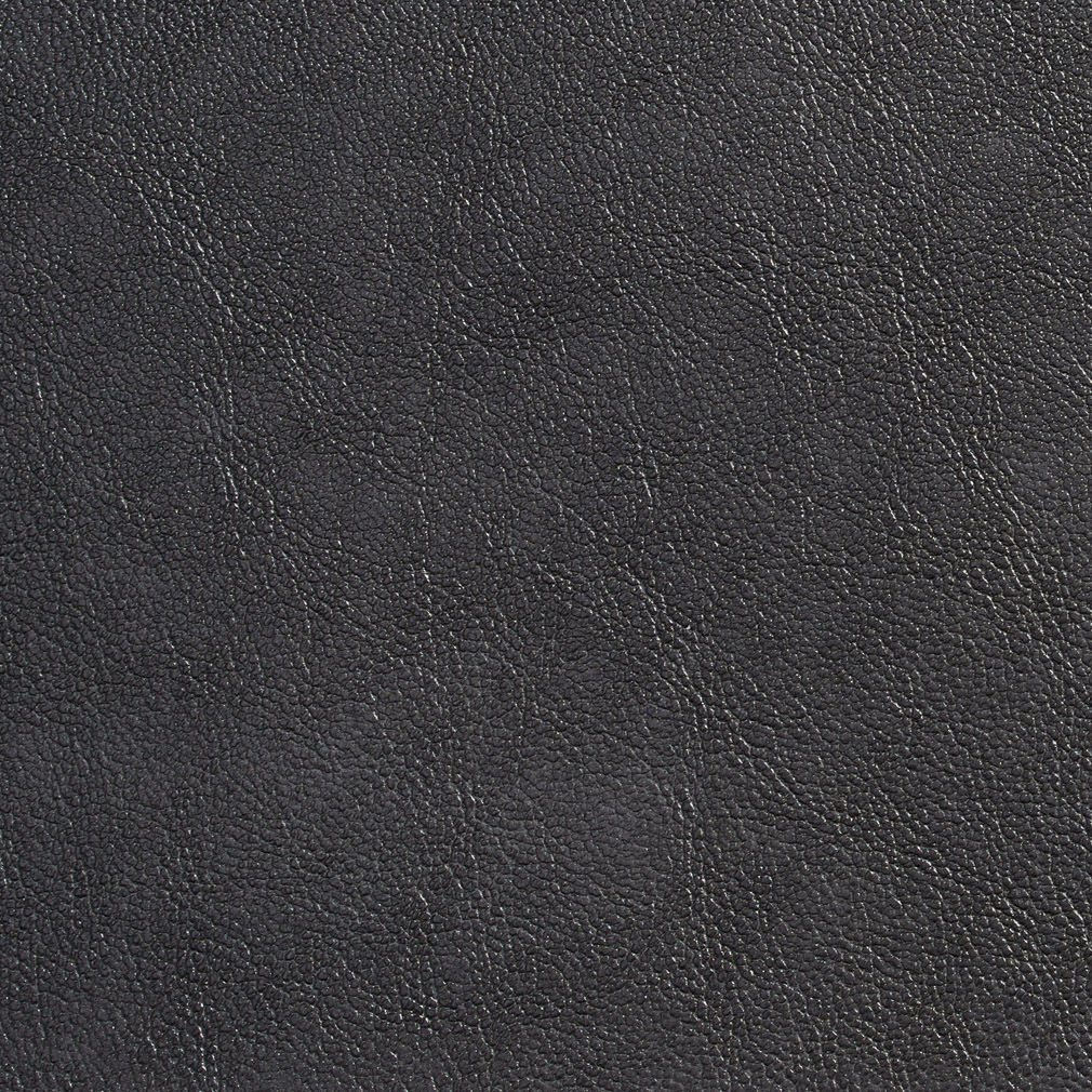 Charcoal Gray Plain Breathable Leather Texture Upholstery