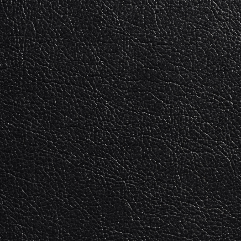 Soft Black Leather Grain Texture Vinyl Decorative
