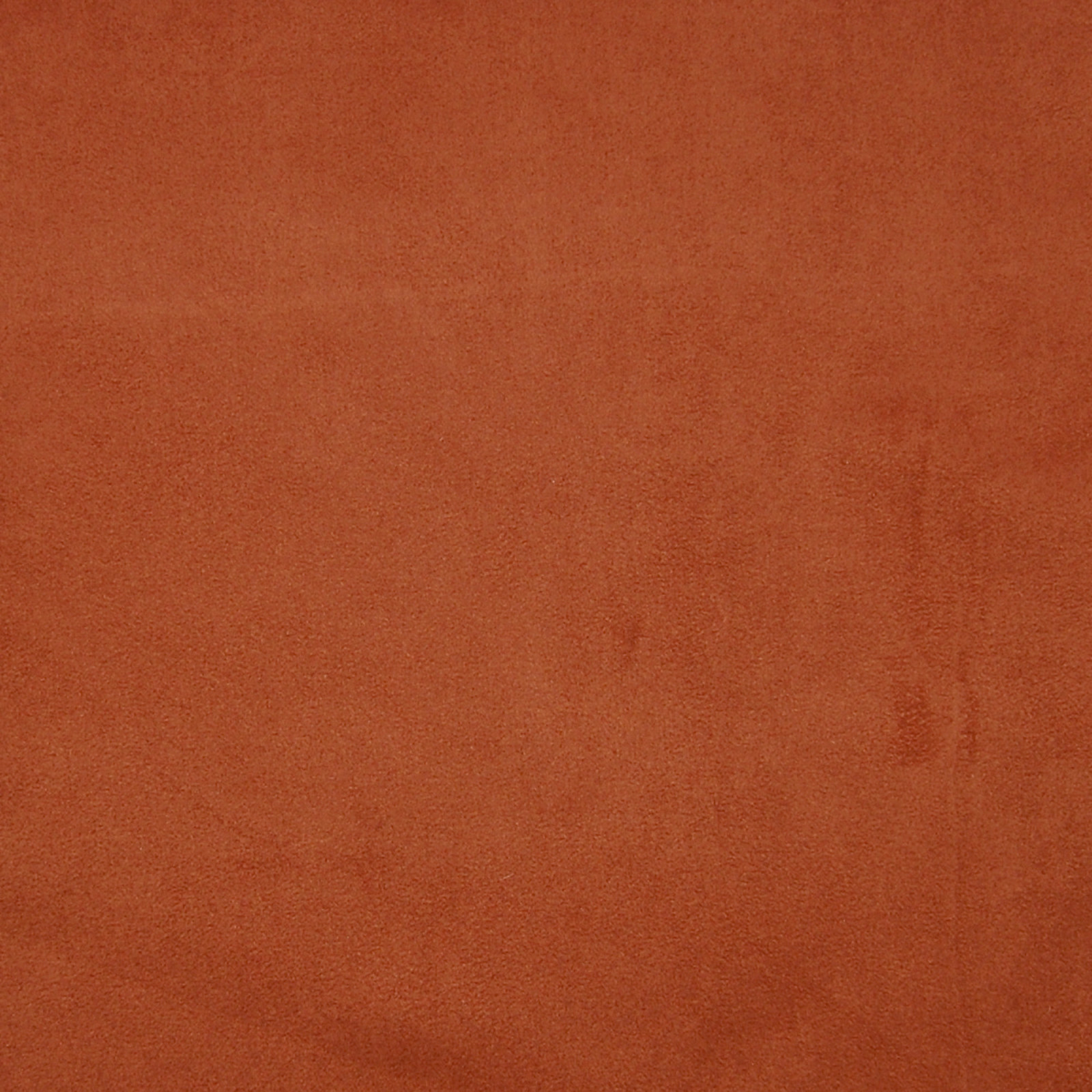Terracotta Orange And Red Solid Suede Upholstery Fabric