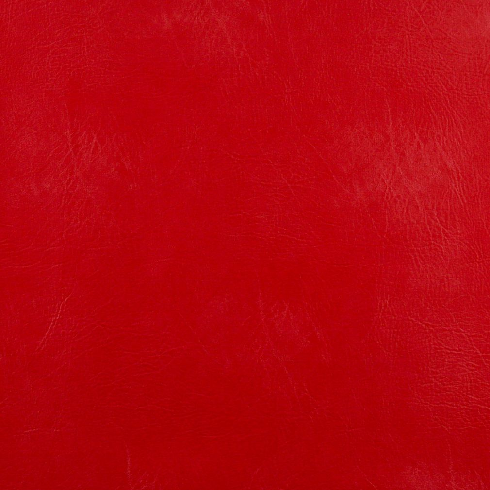 Bright scarlet red leather grain indoor outdoor vinyl for Red leather fabric