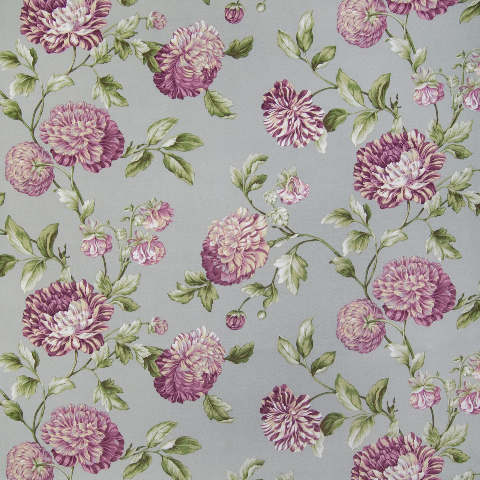 Smoke purple floral upholstery fabric for Floral upholstery fabric