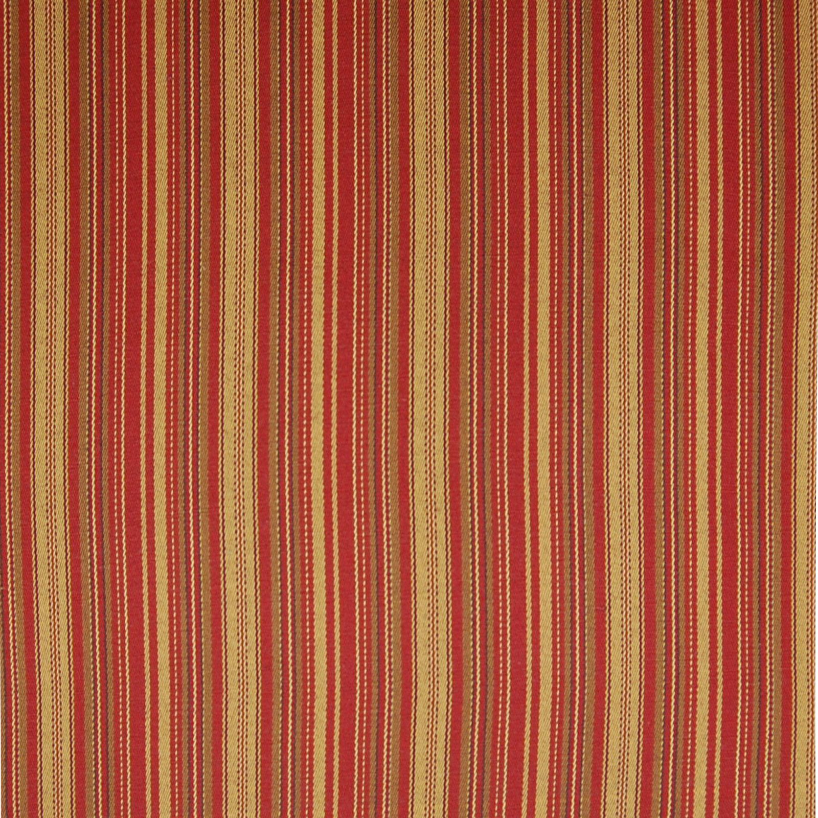 Merlot Red And Beige Stripe Woven Upholstery Fabric