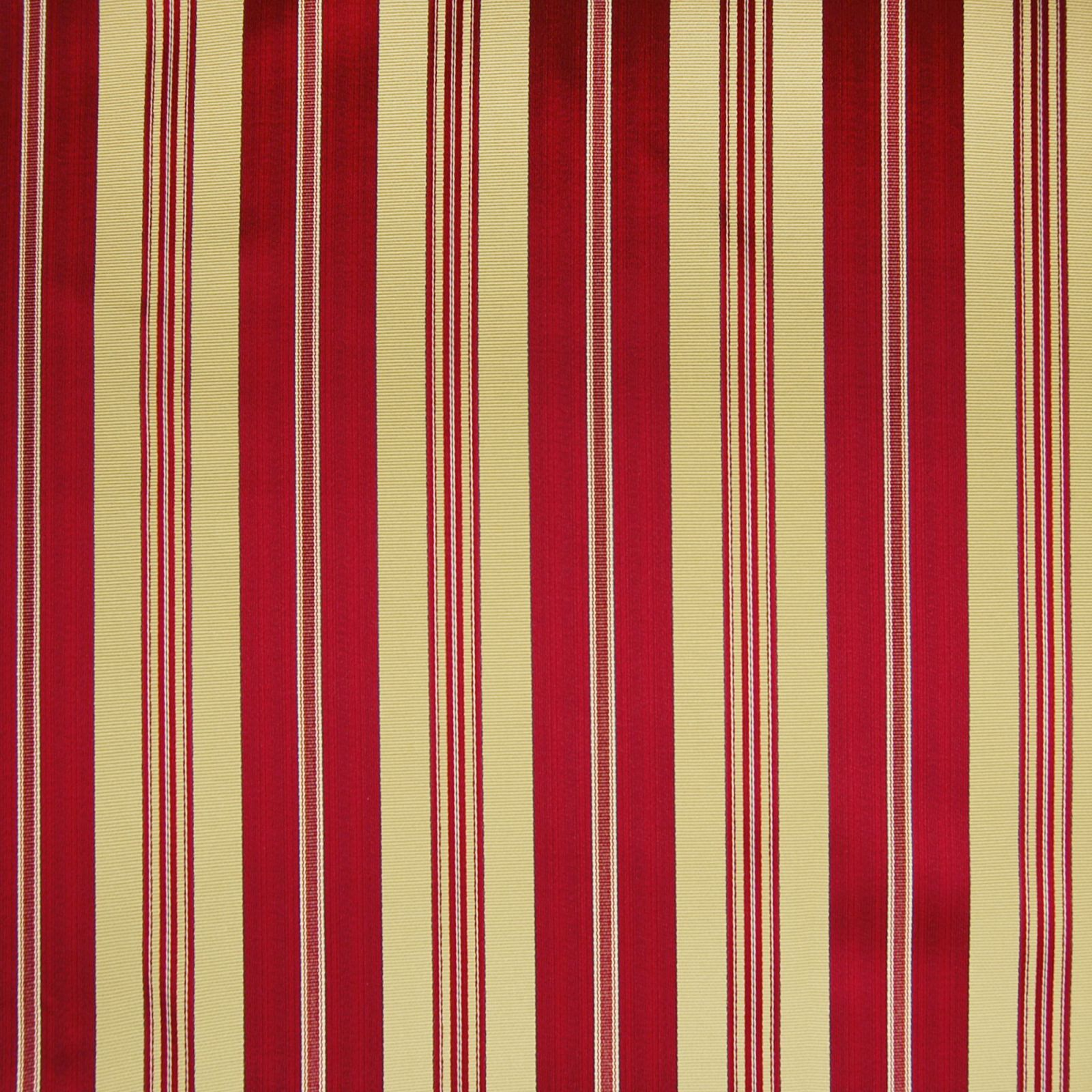 Fire Red Stripe Woven Upholstery Fabric