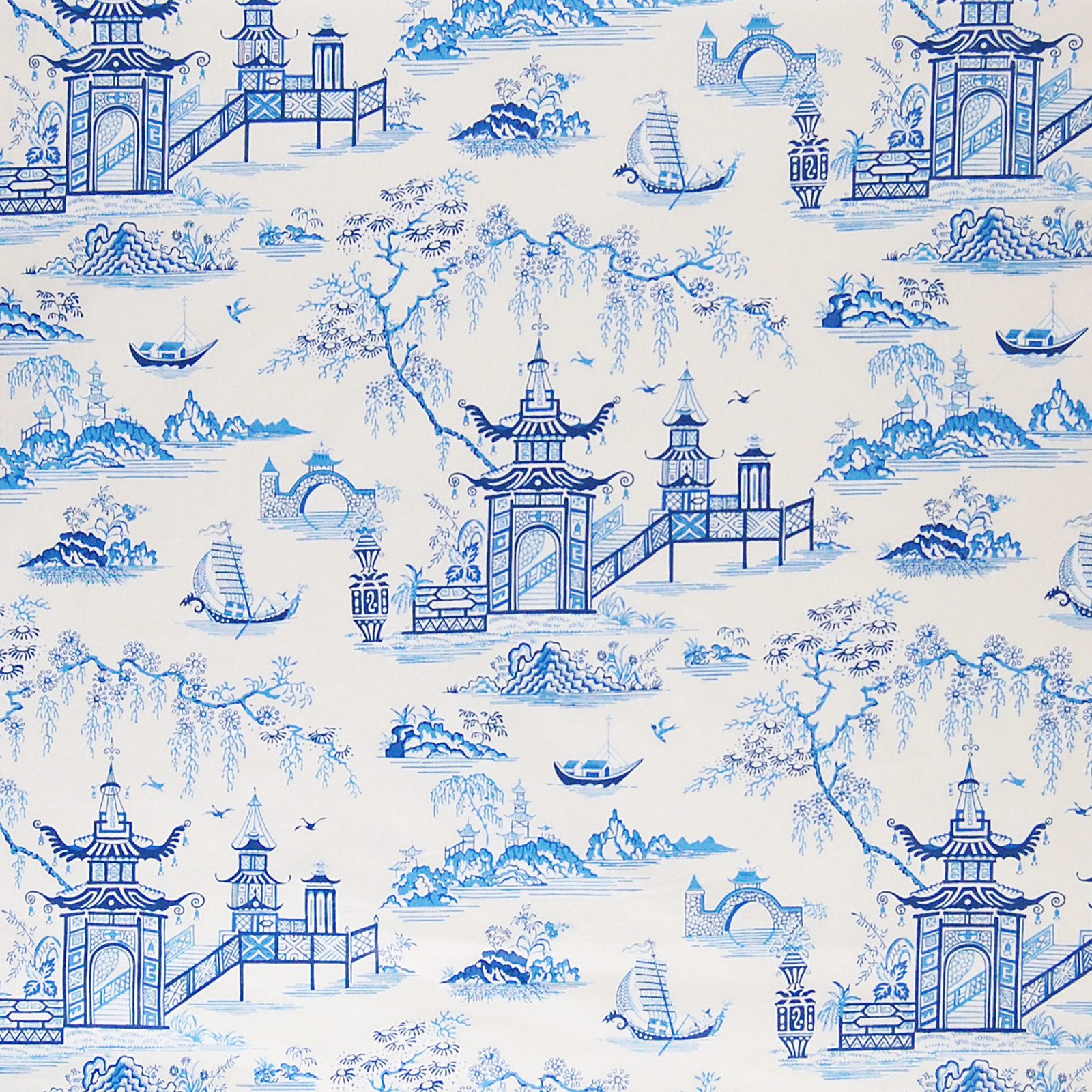 royal blue asian cotton upholstery fabric