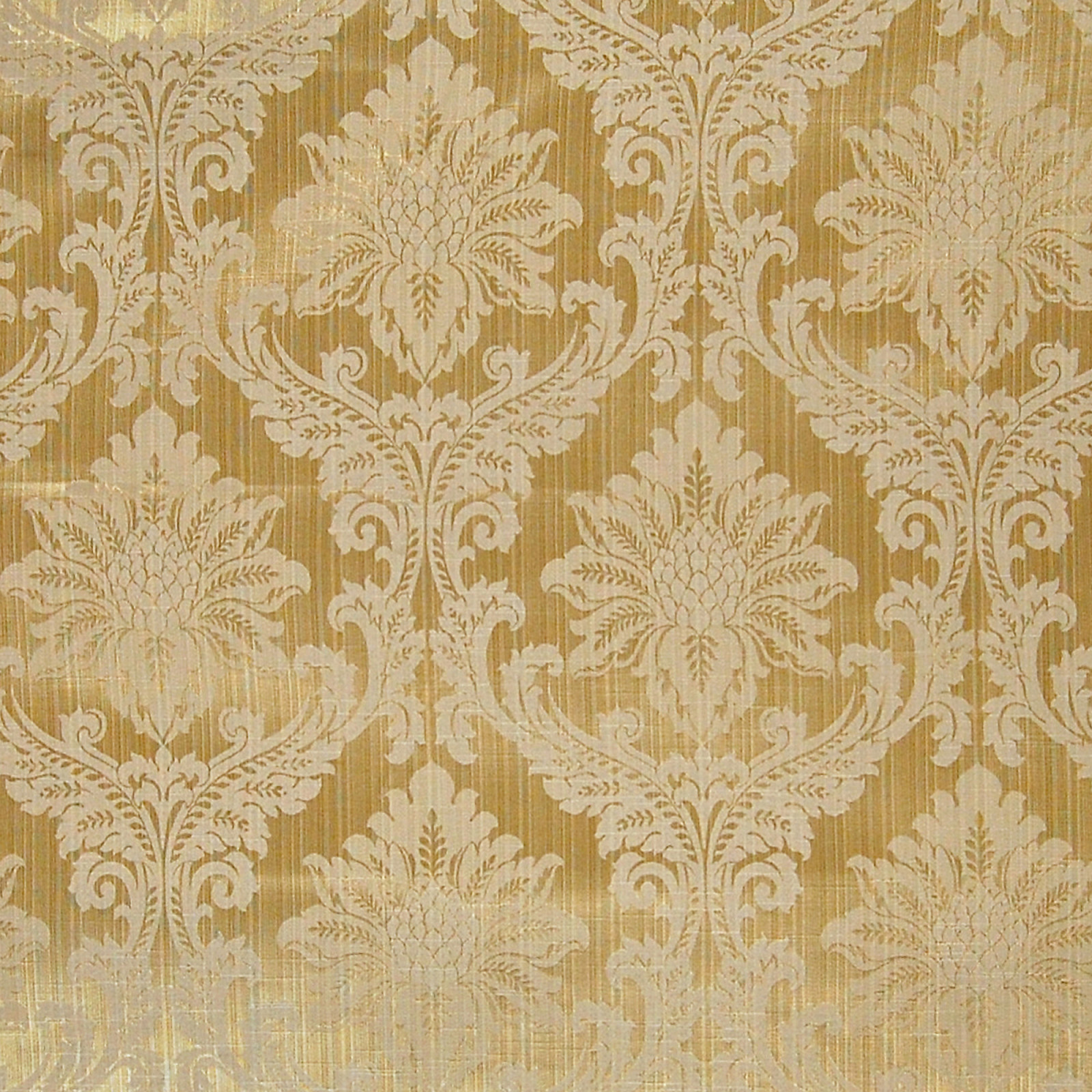 Gold Gold Damask Cotton Upholstery Fabric