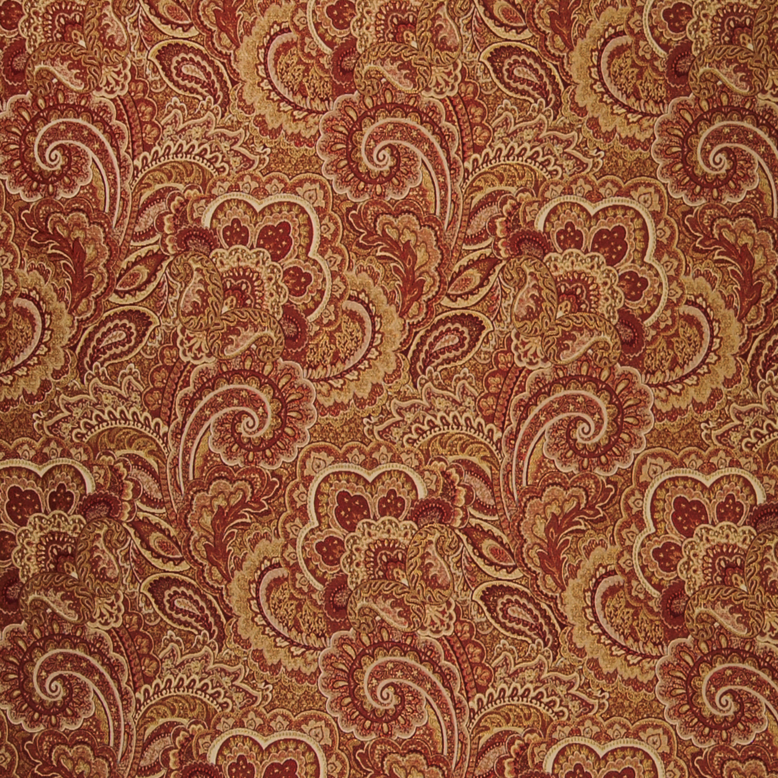 cordial red paisley jacquard upholstery fabric