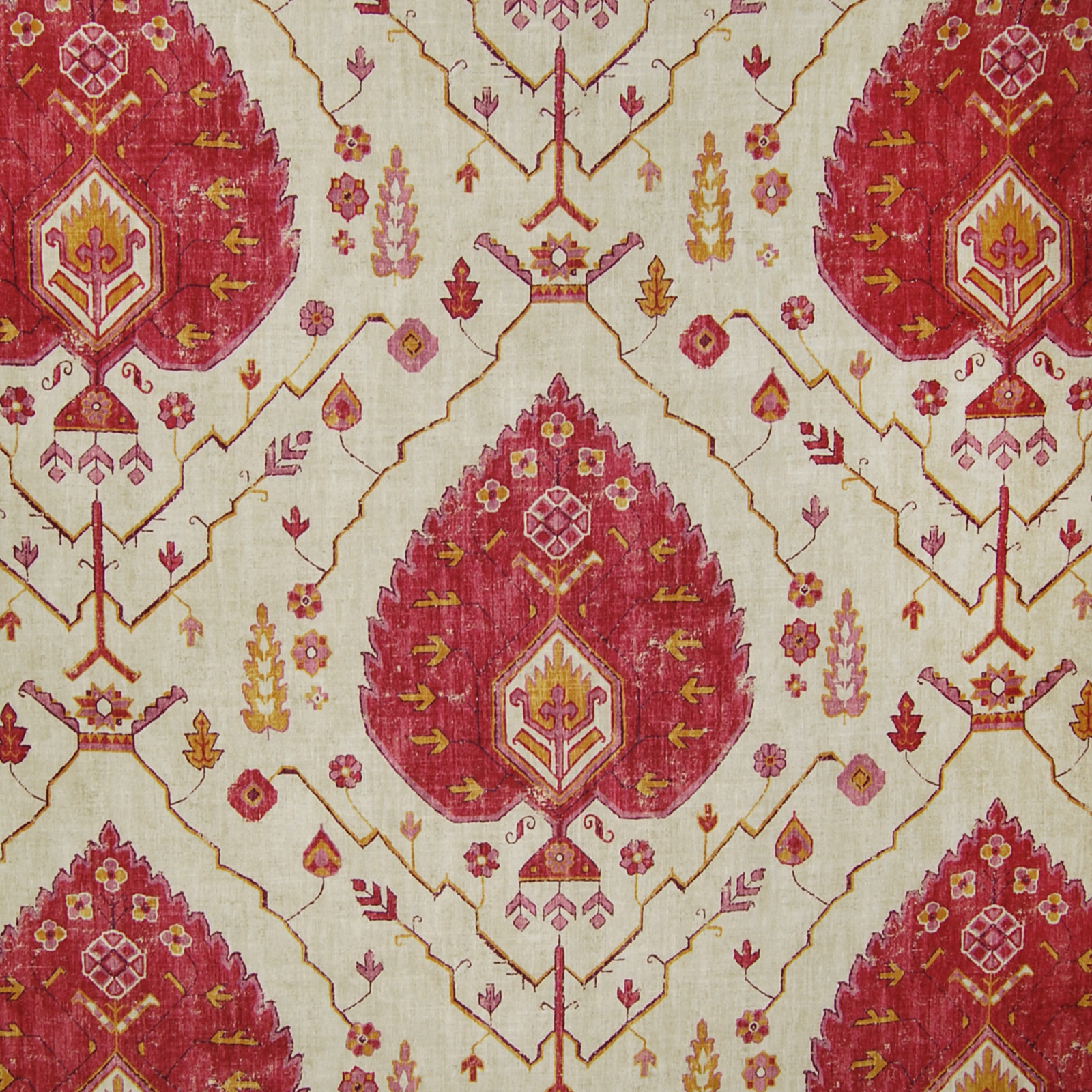 Coral Pink Cotton Upholstery Fabric