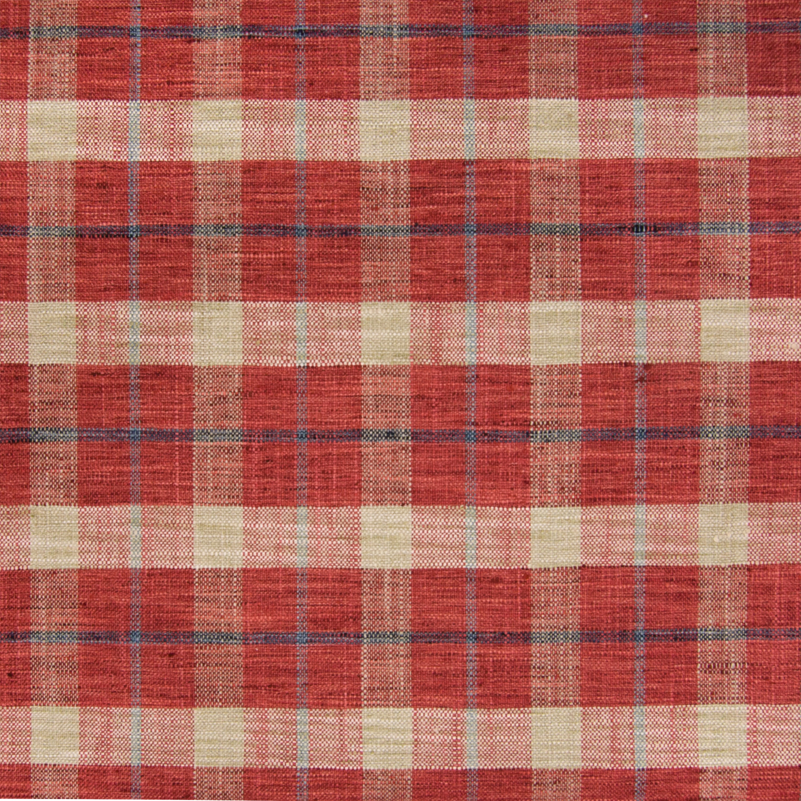 Pompeii Red Plaid Woven Upholstery Fabric