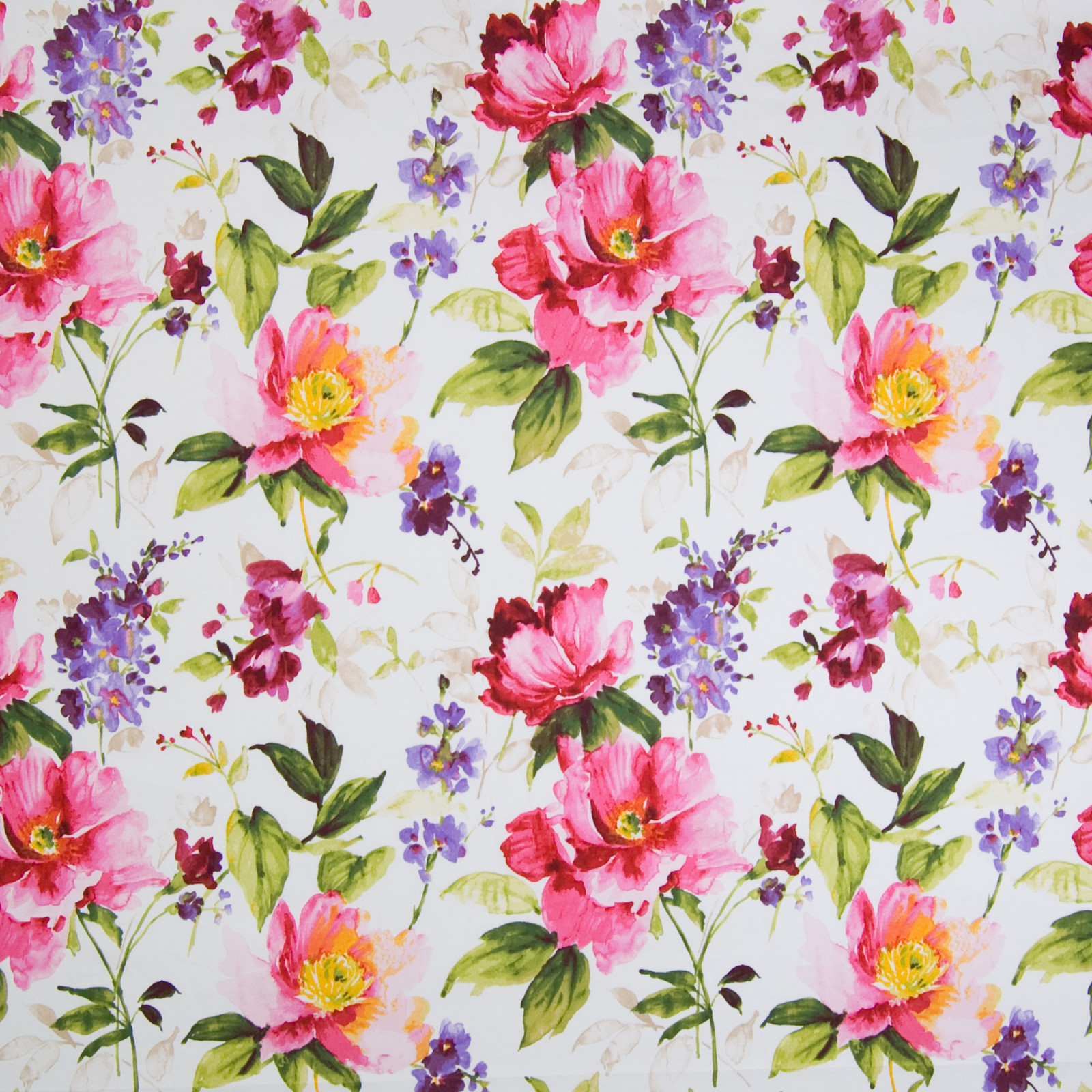 Blossom Pink Floral Prints Upholstery Fabric