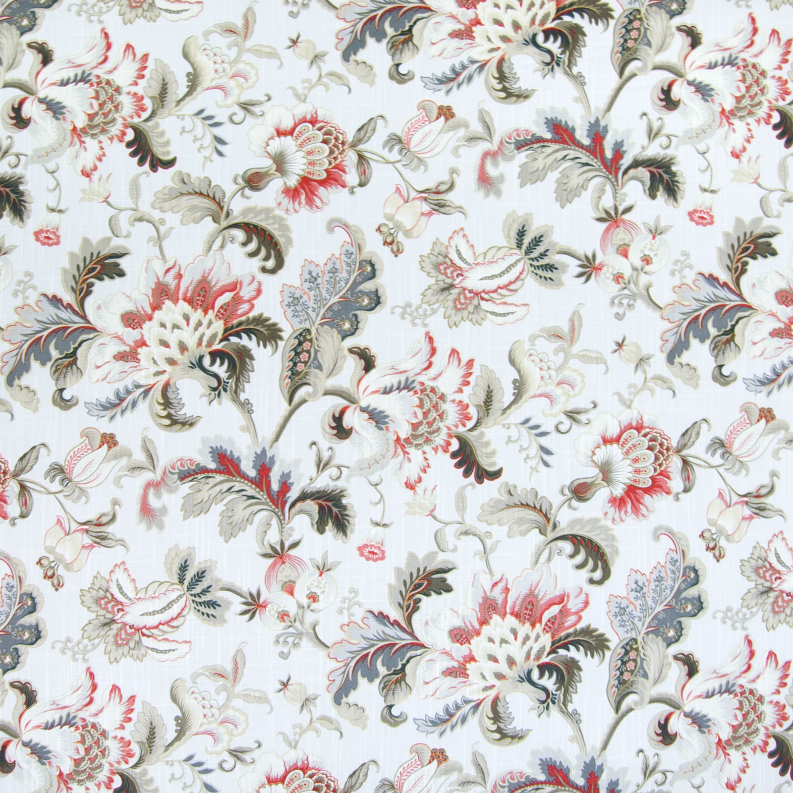 Moonbeam Red Floral Prints Upholstery Fabric