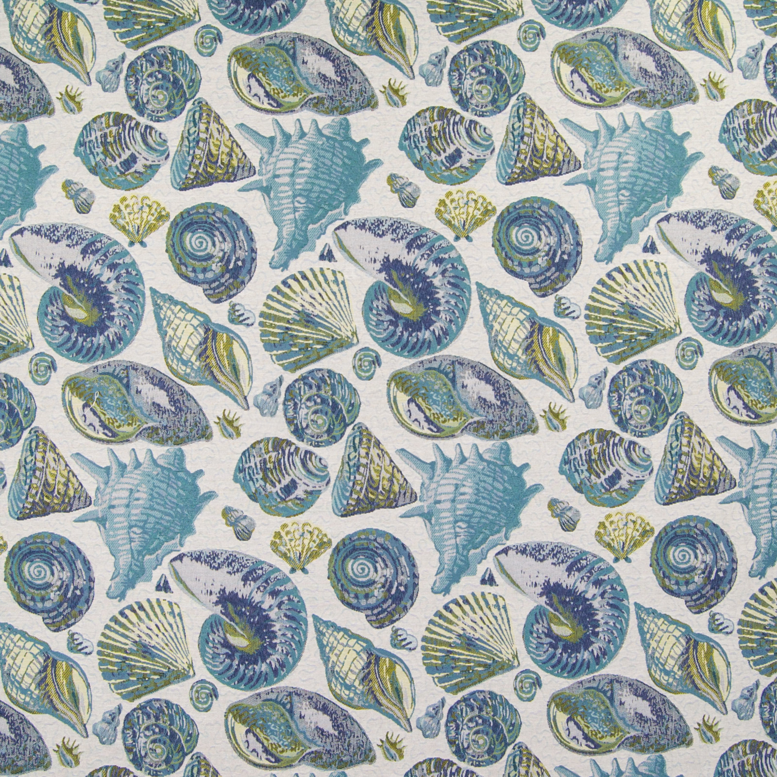 Ocean Teal And Blue Tropical Jacquard Upholstery Fabric