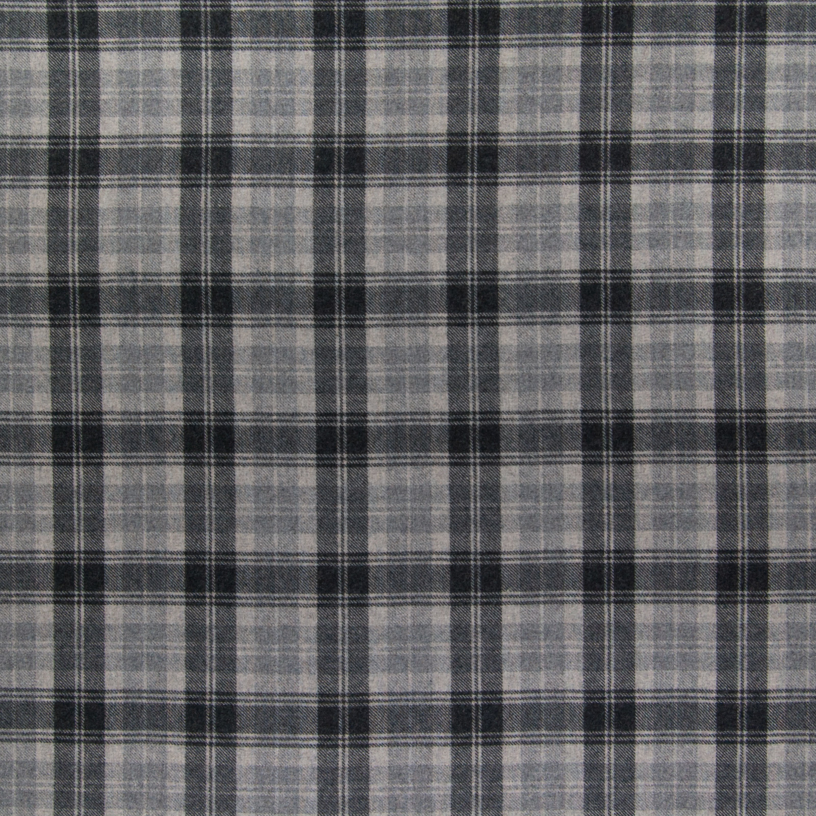Haze Gray Plaid Woven Upholstery Fabric