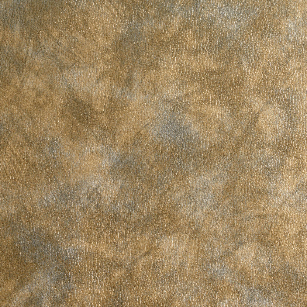 Brown And Silver Metallic Vinyl Upholstery Fabric