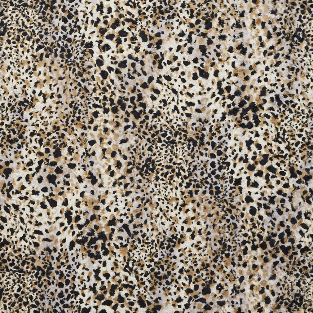 Black White And Gold Chetah Animal Print Microfiber