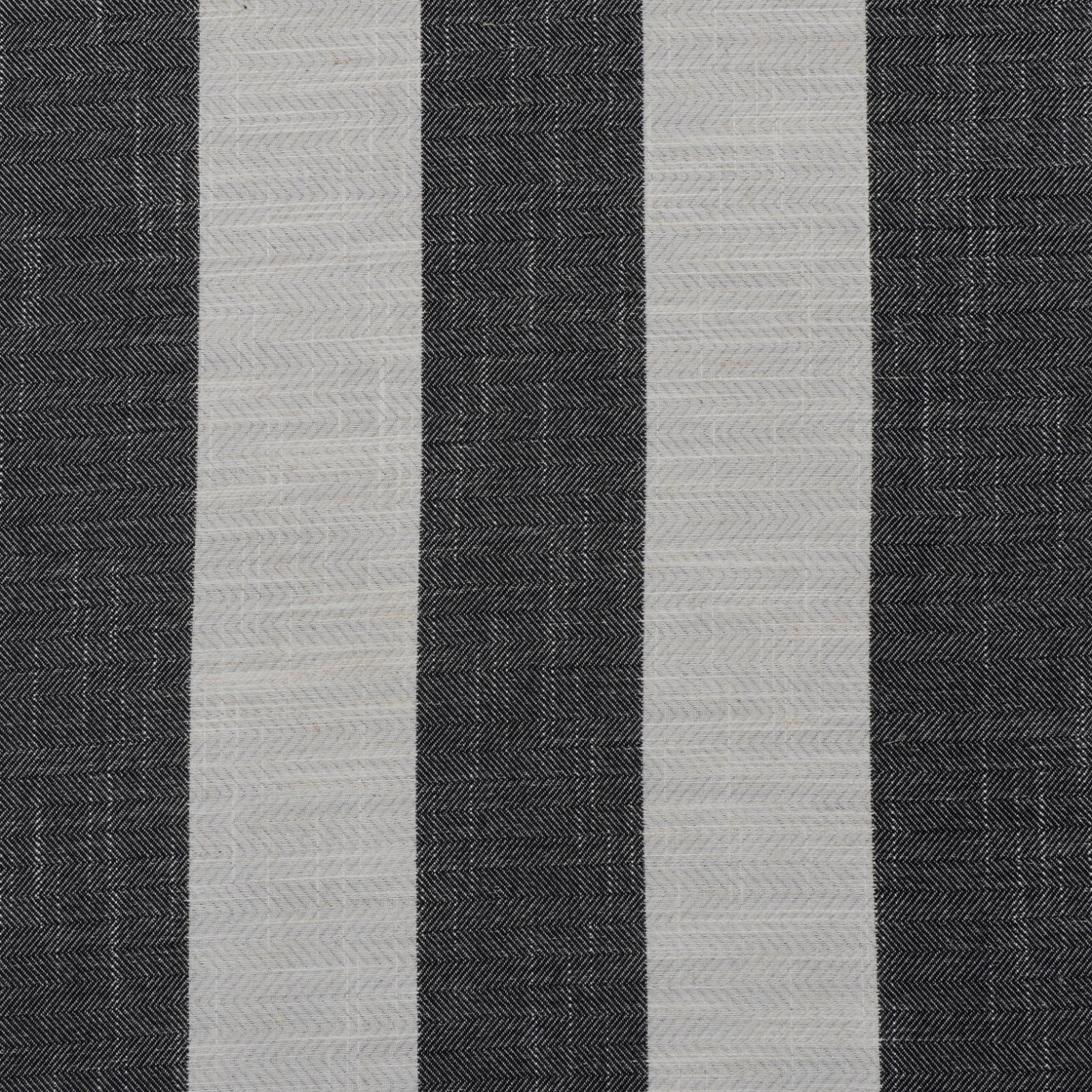 Suede Upholstery Fabric >> Black Black and Gray Stripe Linen Upholstery Fabric