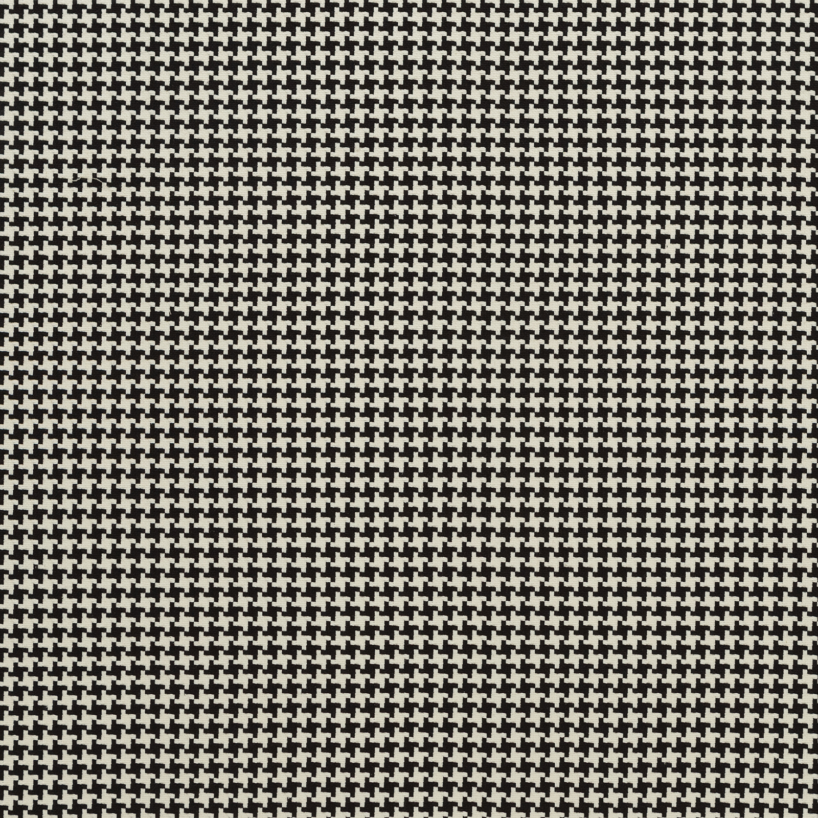 Licorice Black And White Houndstooth 100 Cotton Upholstery Fabric
