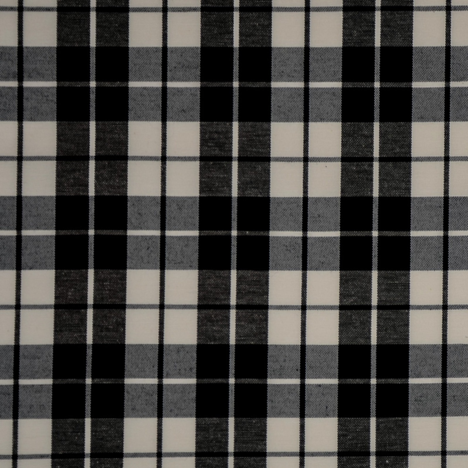 Black Black And White Plaid Woven Upholstery Fabric