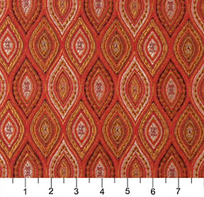 Beige Red And Coral Abstract Diamond Or Moroccan Pattern