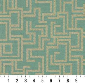 Beige / Tan, Green Light Contemp   K7743 SEAFOAM/GEOMETRIC Upholstery Fabric