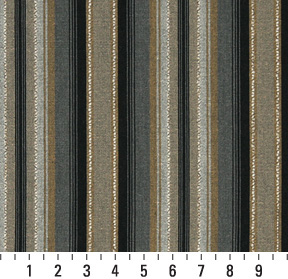 Onyx Black And Tan Gray Gold Accent Stripe Linen